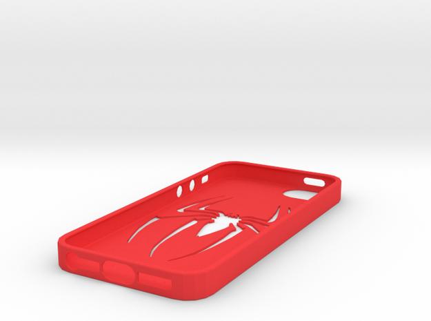 IPhone 5S Spider Case in Red Processed Versatile Plastic