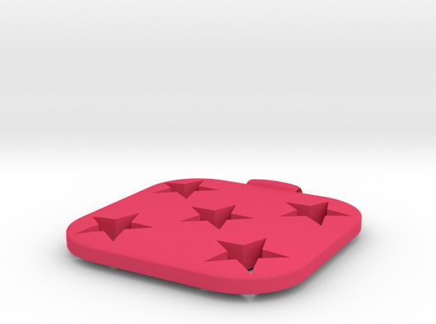 Star-haert Necklace Charm in Pink Processed Versatile Plastic