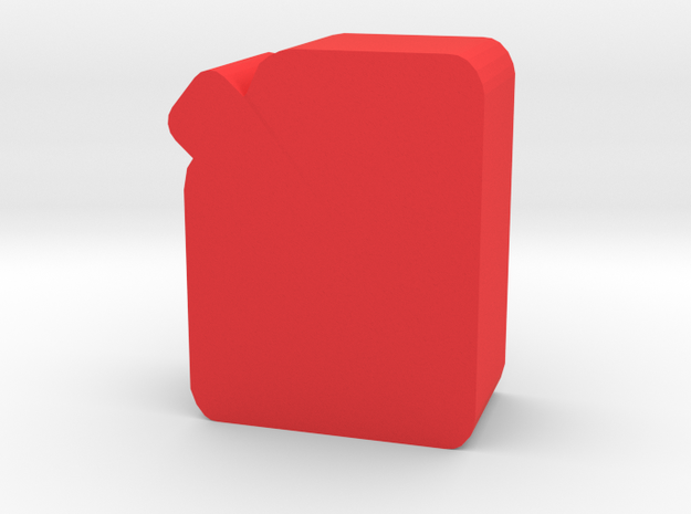Game Piece, Gas Can in Red Processed Versatile Plastic