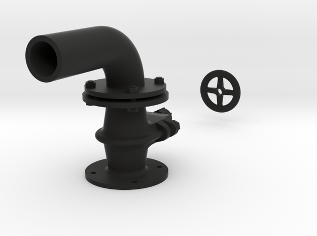Tender Gate Valve in Black Natural Versatile Plastic