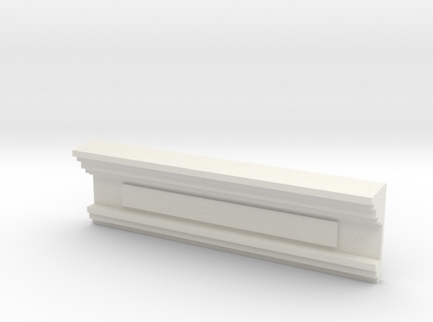 HO WCK Station Front Upper Decorative Moulding in White Natural Versatile Plastic