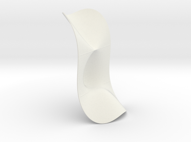Cubic KM 36 cylinder cut with lines in White Natural Versatile Plastic