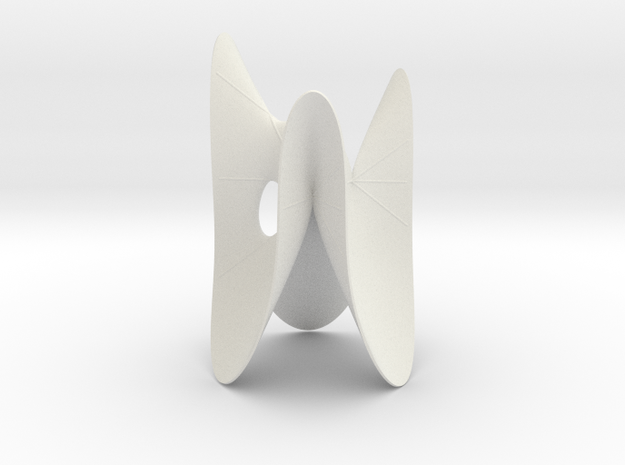Cubic KM 29 cylinder cut with lines in White Natural Versatile Plastic