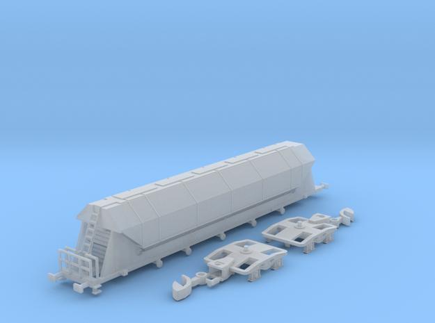 Trichterwagen Tagnpps SBB Cargo Spur Z (1:220) in Smooth Fine Detail Plastic