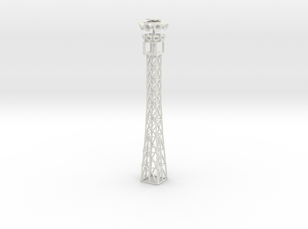 light tower with holes for leds to be installed