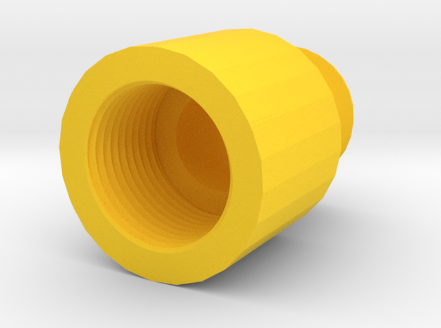14mm- to 14mm+ Barrel Adapter in Yellow Processed Versatile Plastic