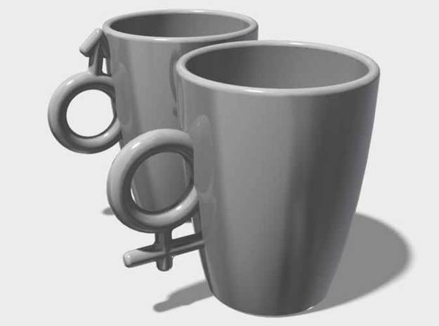 """Large Coffee Cups """"His & Hers"""" 3d printed Large Coffee Cups, """"His & Hers"""""""