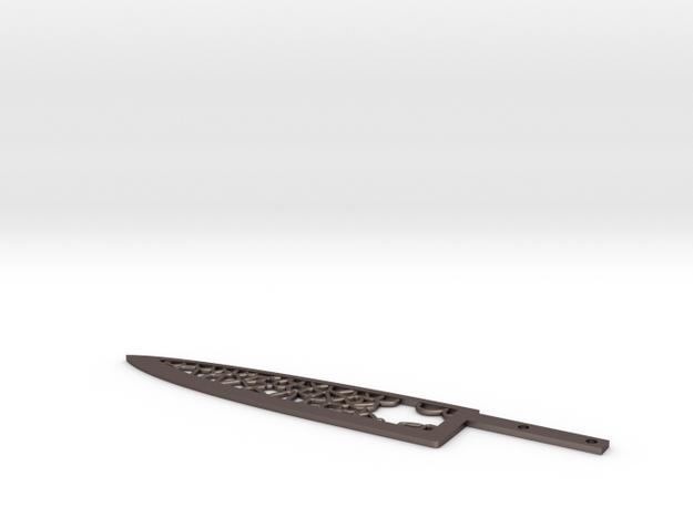 Kitchen Knife in Polished Bronzed Silver Steel
