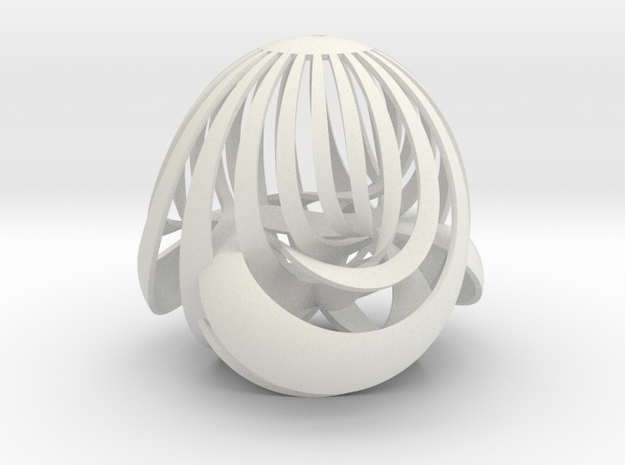Boy surface (striped version) in White Natural Versatile Plastic