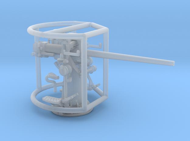1/96 3 inch 50 cal USN deck gun in Smooth Fine Detail Plastic