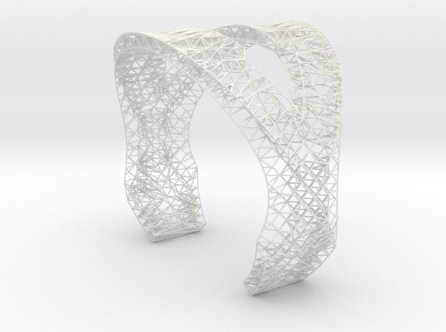 Modern Bracelet  in White Strong & Flexible