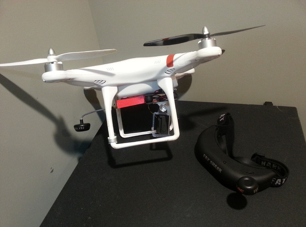 Immersion RC Video Transmitter Mount for DJI PHANT 3d printed