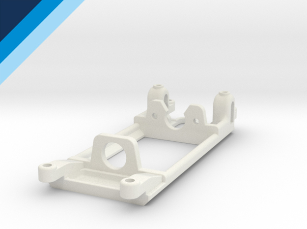 Flat-6 motor mount - Slot.it compatible in White Strong & Flexible