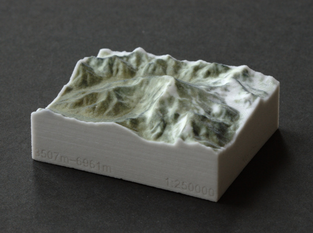 Aconcagua, Argentina, 1:250000 Explorer in Full Color Sandstone