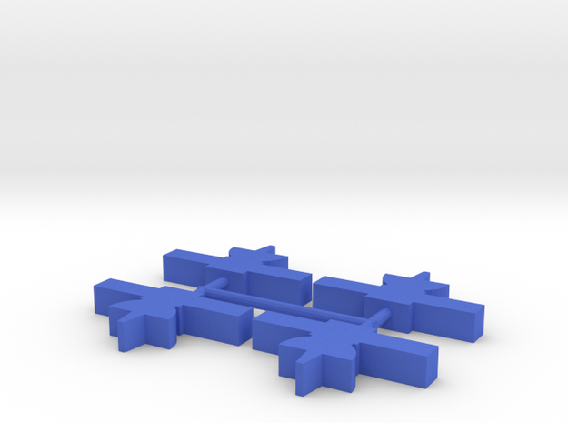 Custom Order, 4-set Satellite Probe, 5mm in Blue Processed Versatile Plastic