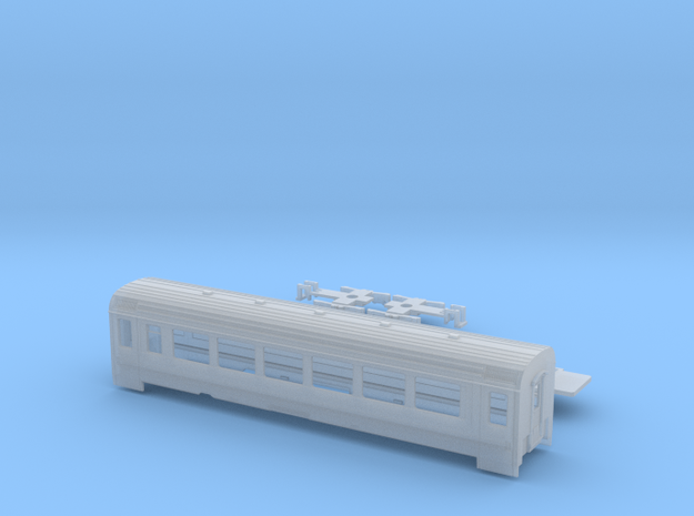 Passenger car type B-4S w/bogie in Smooth Fine Detail Plastic