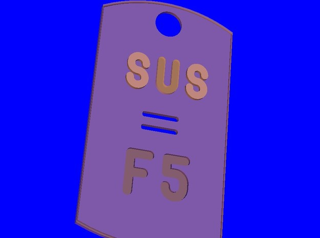 SUSF5 3d printed Wireframe SUS F5