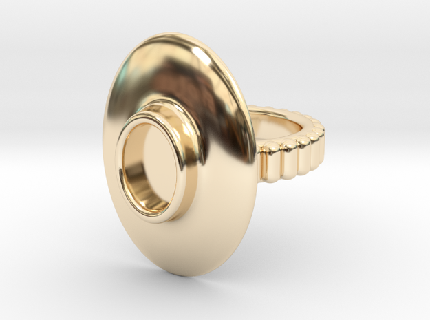 "Ring ""Albrecht"" in 14k Gold Plated Brass: 5.5 / 50.25"