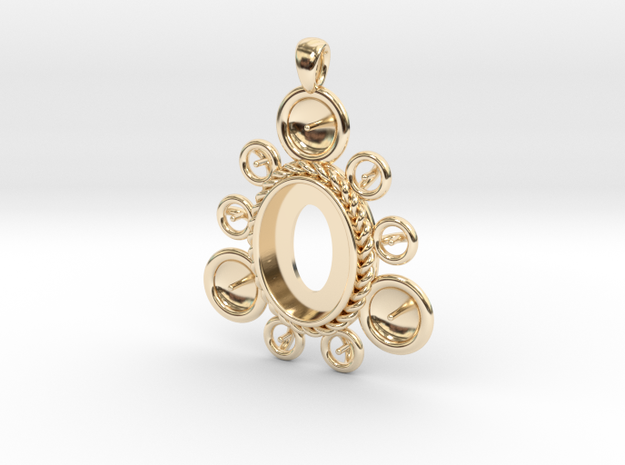 """Pendant """"Ursula"""" in 14k Gold Plated: Large"""