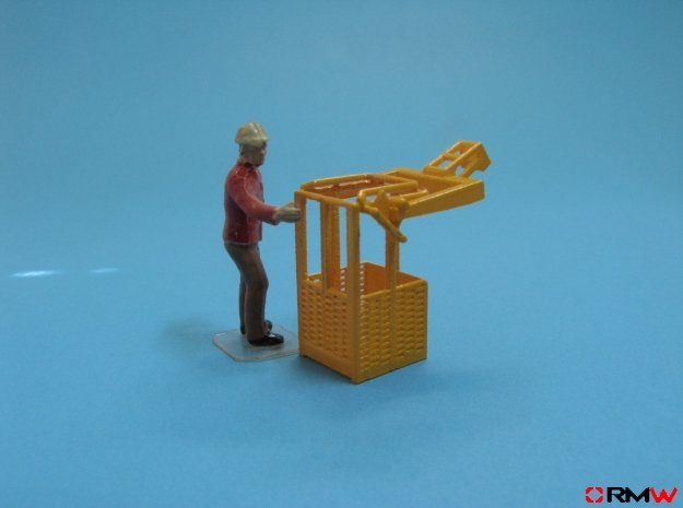 HO/1:87 Man basket for mini crawler crane in Smooth Fine Detail Plastic