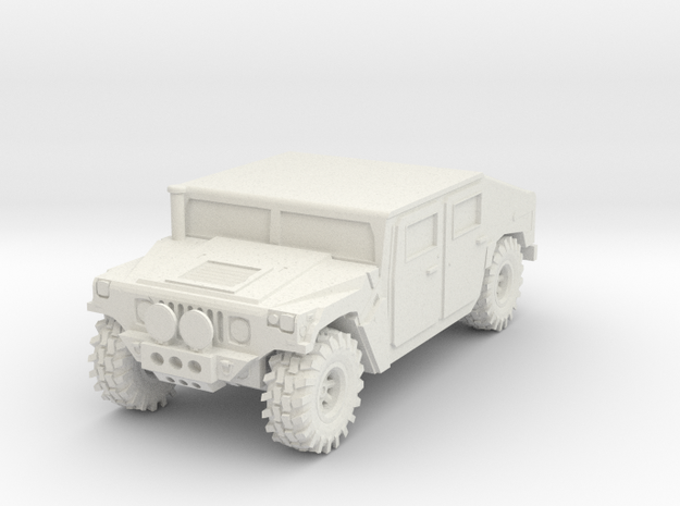 Hummer 1:12scale in White Natural Versatile Plastic