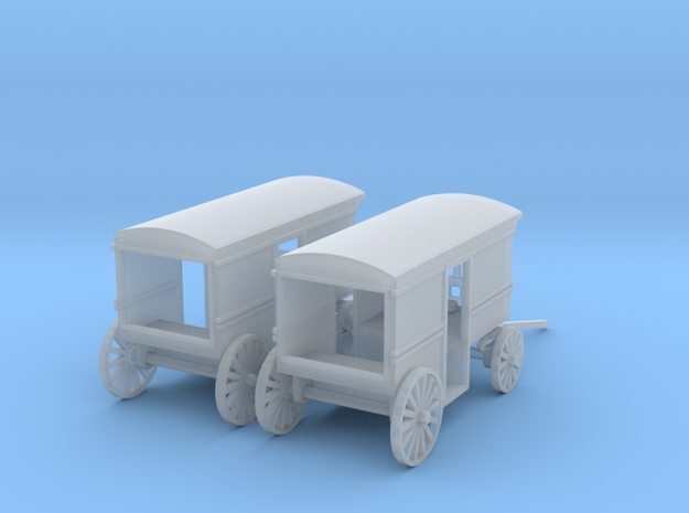 Milk Delivery Wagons Z Scale in Smooth Fine Detail Plastic