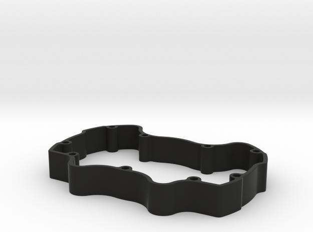 Audi Style - Rear Enclosure - No Internal supports in Black Natural Versatile Plastic