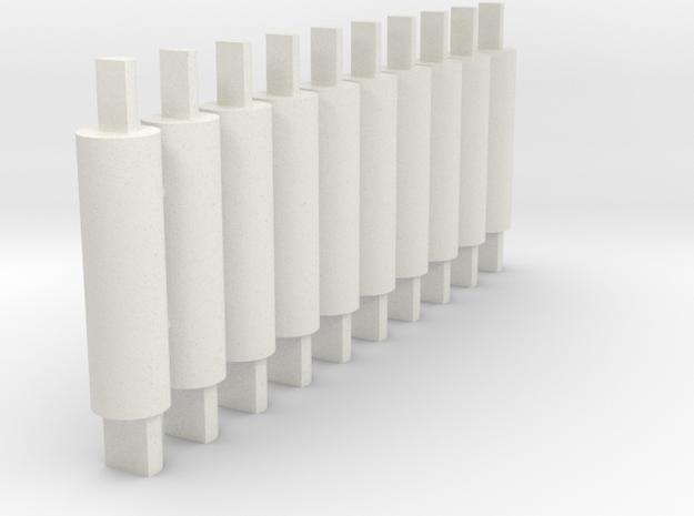 GUMS Pegs 10 - 170219-0 in White Natural Versatile Plastic