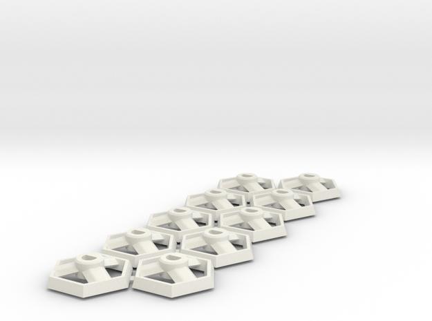 GUMS Bases 10 - 170219-0 in White Natural Versatile Plastic