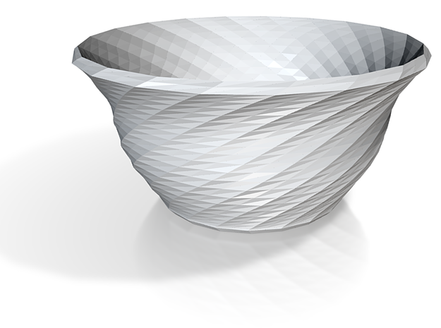 twisted red cap soup bowl 3d printed