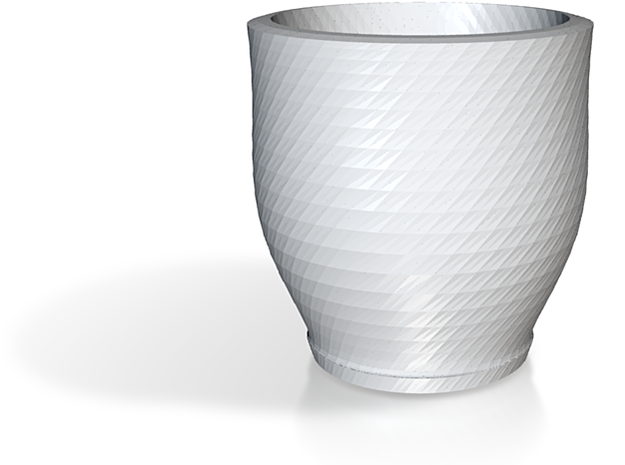 twisted red cap cup 1 3d printed