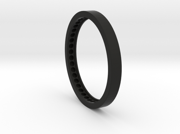 Arri16 80mm Front For 70mm diameter lenses in Black Natural Versatile Plastic