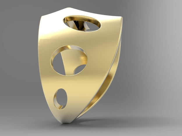 Sail Ring G in 18k Gold Plated Brass: 10 / 61.5