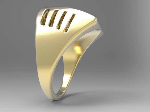 Breathing Ring G in 18k Gold Plated Brass: 10 / 61.5