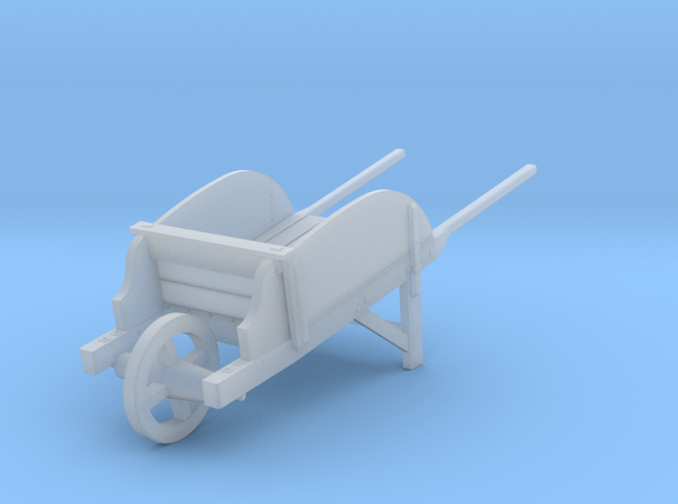 18th Century Wheelbarrow w/ Sides 1/35 in Smooth Fine Detail Plastic