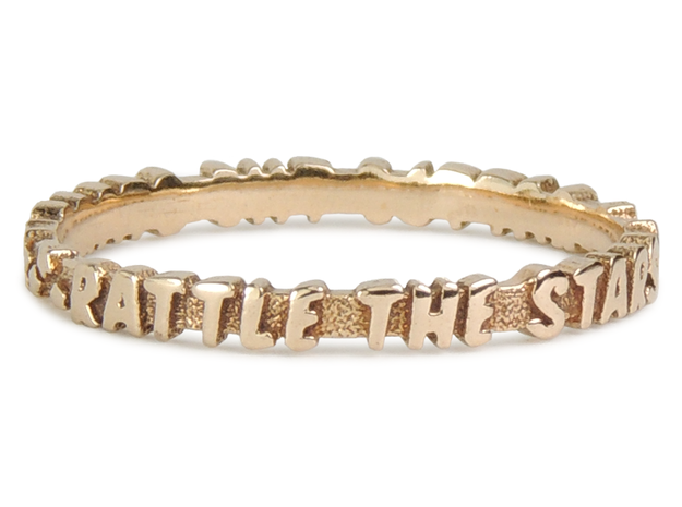 Rattle The Stars Ring (Multiple Sizes) in Polished Bronze: 6 / 51.5
