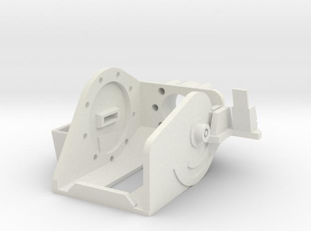 MG151 Gun Mount 1:10 in White Natural Versatile Plastic