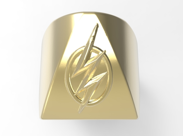 Flash Ring G in 18k Gold Plated Brass: 10 / 61.5