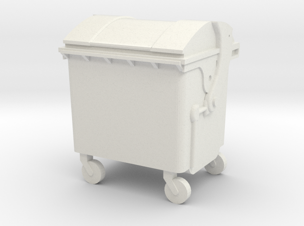 Small trash container in White Strong & Flexible: 1:87 - HO