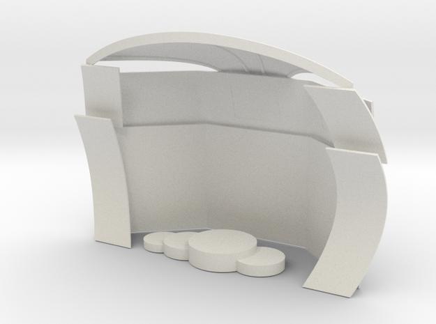 Podium F1+platform for slot car track in White Natural Versatile Plastic