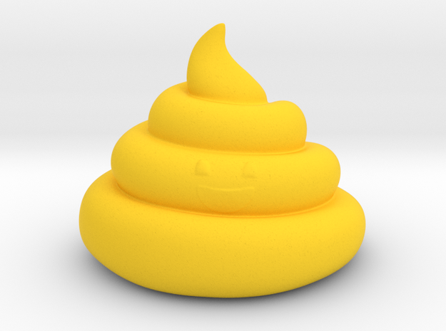 poop de la tart in Yellow Processed Versatile Plastic