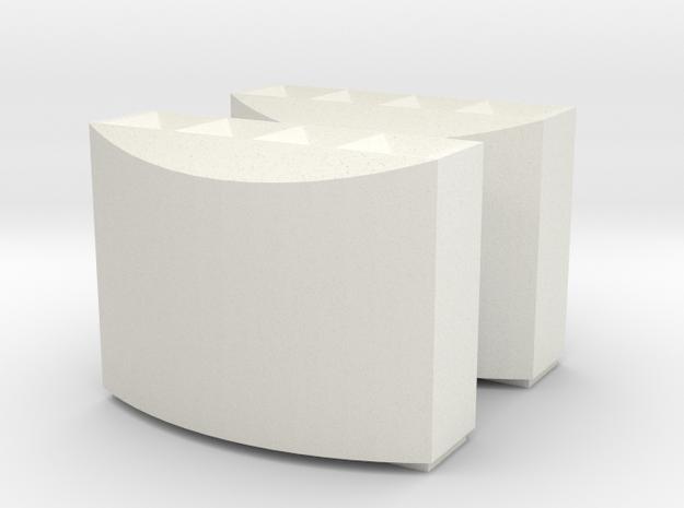 DB Mülleimer 2x H0 in White Natural Versatile Plastic