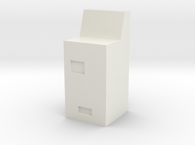 DDR Ticket vending mashine type MFA - DR Fahrkarte in White Natural Versatile Plastic: 1:87 - HO