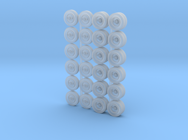 Bud-Style Wheels 2-Axle x6 in Smooth Fine Detail Plastic