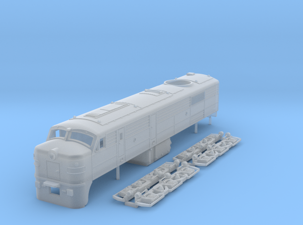 N scale ALCo DL500 locomotive in Smooth Fine Detail Plastic