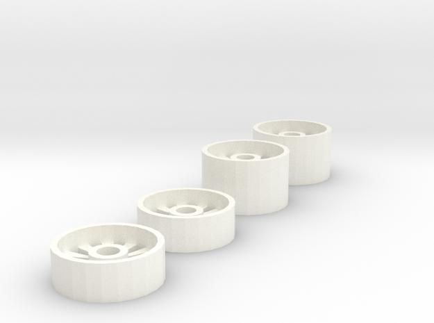 Rims V2 in White Processed Versatile Plastic