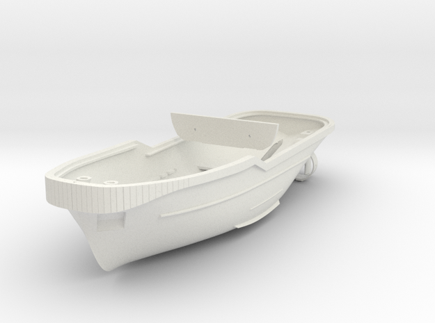 Harbor Tug Hull 1:75 V40 Feature Complete in White Strong & Flexible