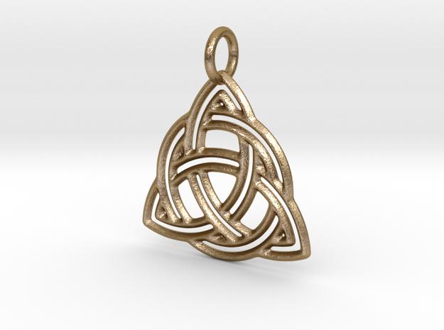 Celtic Knot Pendant in Polished Gold Steel