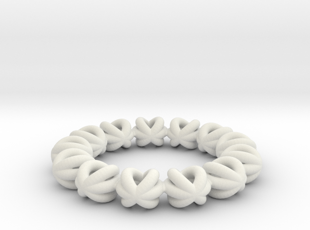 Bracelet Of Circles v2.13 in White Strong & Flexible