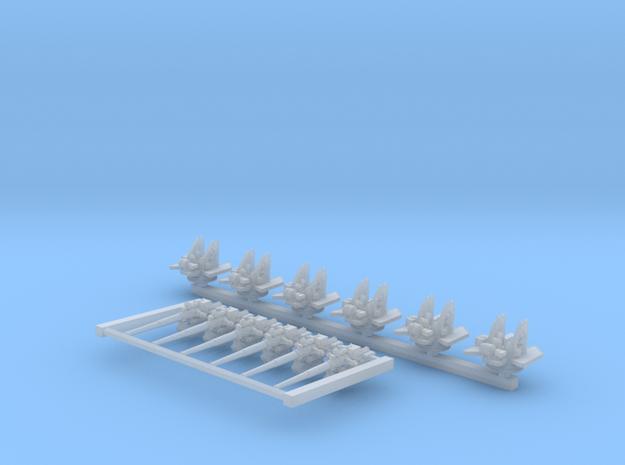 "1/600 4.7"" /40 (12cm) QF Mark VIII x6 No Shields"